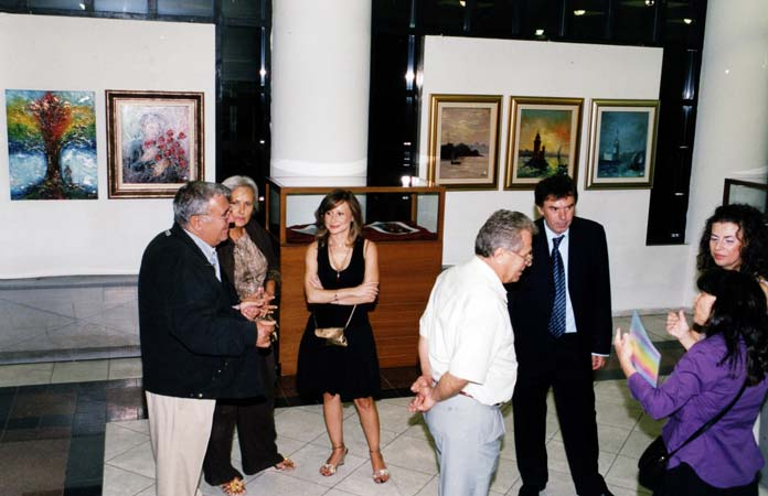 Exhibitions of painter Angelos Katsoufros